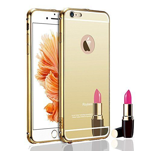 For iPhone 6 Case, Roybens Luxury Air Aluminum Metal Bumper Detachable + Mirror Hard Back Case ,2 in 1 cover ,Ultra Thin Frame with Stylish Designs for Apple iPhone 6 (4.7) - Retail Packaging (Gold), http://www.amazon.com/dp/B00W6I0ORI/ref=cm_sw_r_pi_awdm_iu10wb0VM5H0E