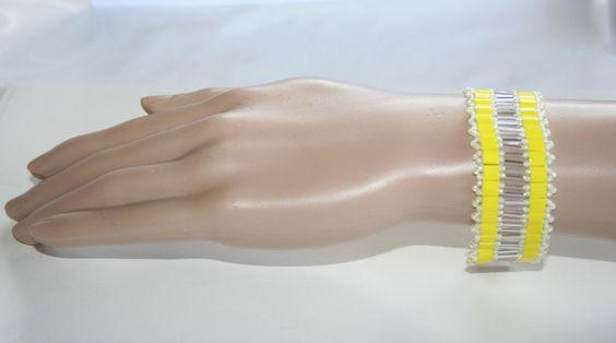 Armbänder - Armband mit Tila Perlen Gelb - ein Designerstück von MartinDesign bei DaWanda