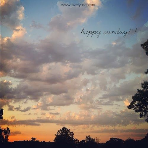 happy sunday!! via LovelyUs