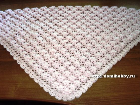 вязание шали крючком