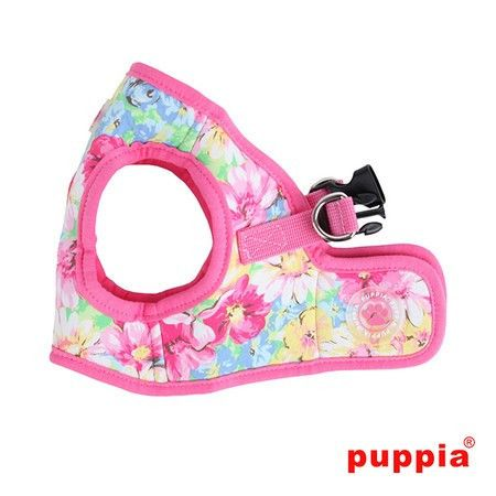 """Puppia """"Spring Garden Floral"""" Choke-Free, Step-in Harness Vest Jacket in Pink Floral"""
