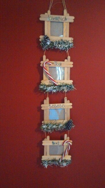 Popsicle stick picture frame: