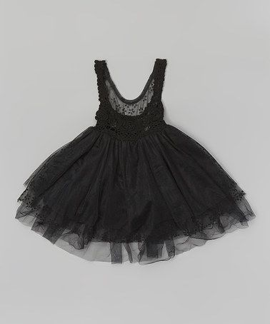 Blossom Couture Black Lace Overlay Crochet Dress - Infant- Toddler ...