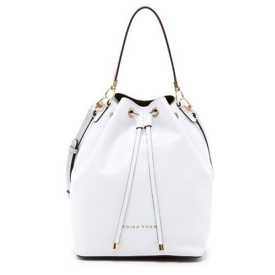 Trina Turk Lyon Bucket Cad Liked On Polyvore Featuring Bags Handbags Shoulder White Handbag Purse