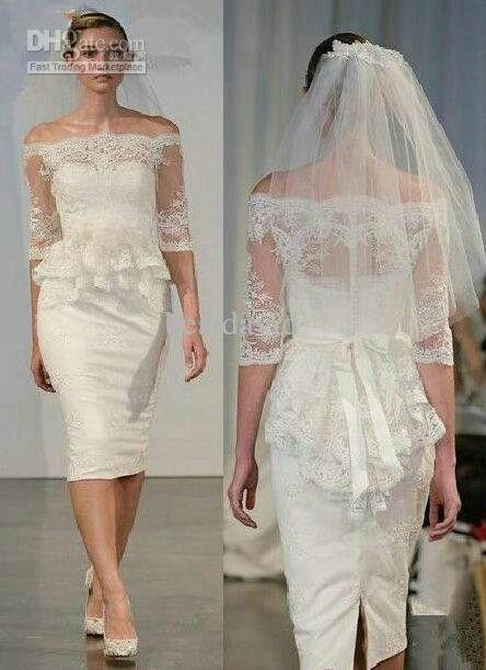 reception/ courthouse wedding dress :)