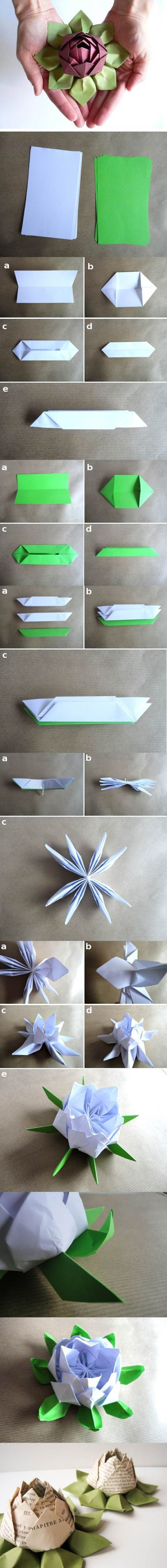 Lotus Leaf Napkin Folding : 1000+ ideas about Paper Lotus on Pinterest  Origami, Origami Rose and