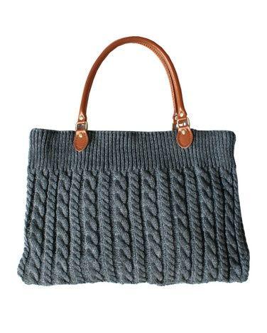 Chunky Cable Knit Handbag