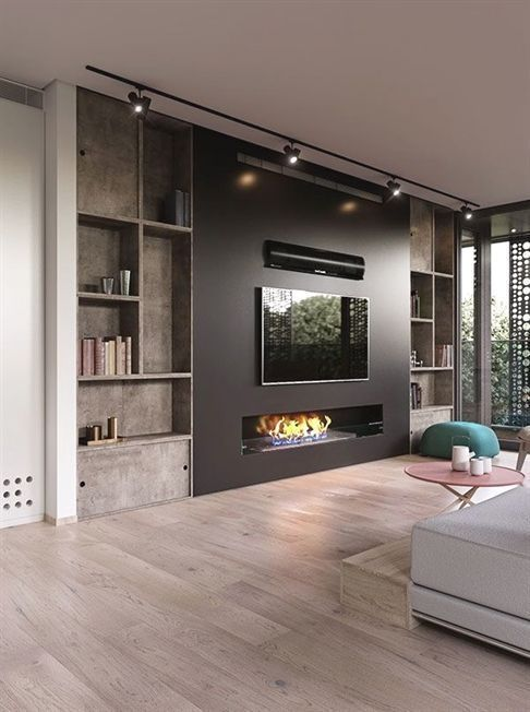 Modern And Attractive Tv Wall Design Living Room Tv Chimney Slovenia Attractive Chimney Living Room Lighting Design Trendy Living Rooms Living Room Tv #picture #of #living #room #with #fireplace