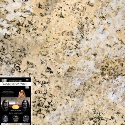 Giani Countertop Paint Youtube : Giani Granite, 1.25-qt. Sicilian Sand Countertop Paint Kit, FG-GI ...