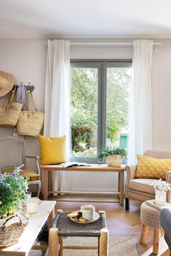 cortina-blanca-barra-blanca-el-mueble-00465065. De algodón, frescas y ligeras
