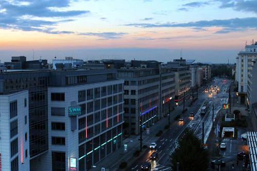 Blick auf die Otto von Guericke Straße in #Magdeburg