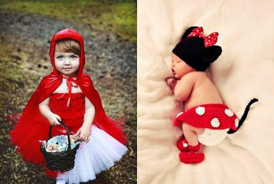 kinder faschingskostüme rot käppchen anzug kleinkinder schlafen süß wunderschön