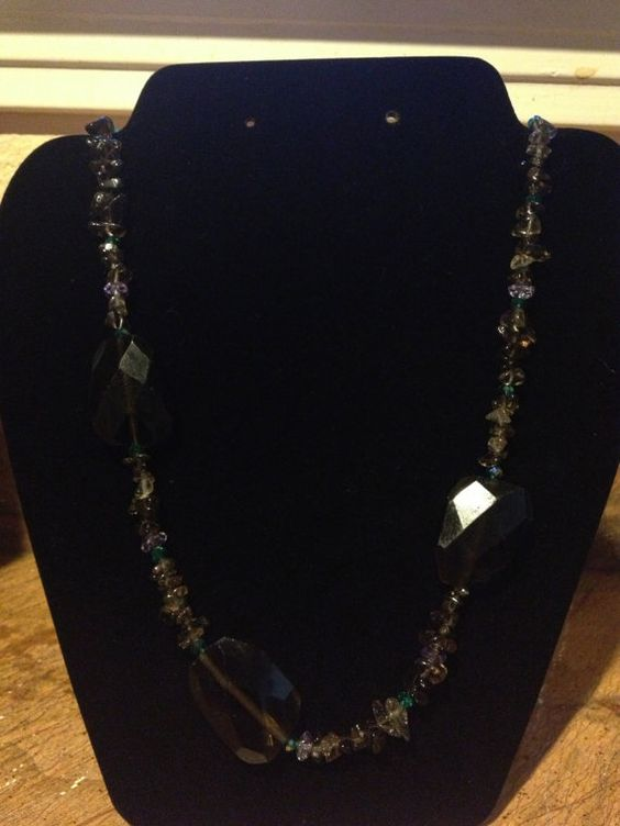 SPRING SALE 50 OFF Faceted Smokey Quartz by WallpaperGirlCabinet, $20.00