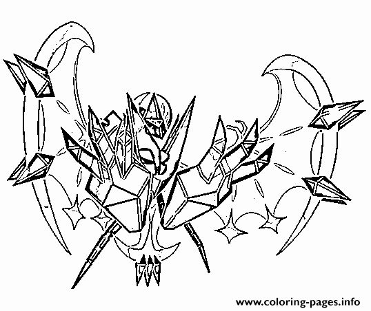 Legendary Pokemon Coloring Page Luxury Necrozma Aa Pokemon Legendary Generation 7 Coloring Pages Pokemon Coloring Pages Pokemon Coloring Coloring Pages