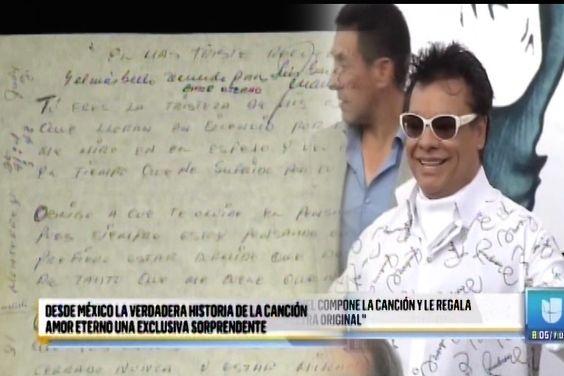 """Revelan el Misterio de a Quien Juan Gabriel Le Escribió la Canción """"Amor Eterno"""""""