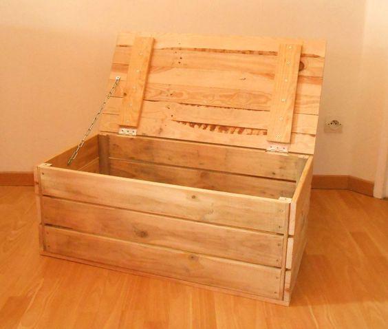 descriptif coffre en bois 2 coffre en bois de palettes projet et bricolage pinterest. Black Bedroom Furniture Sets. Home Design Ideas