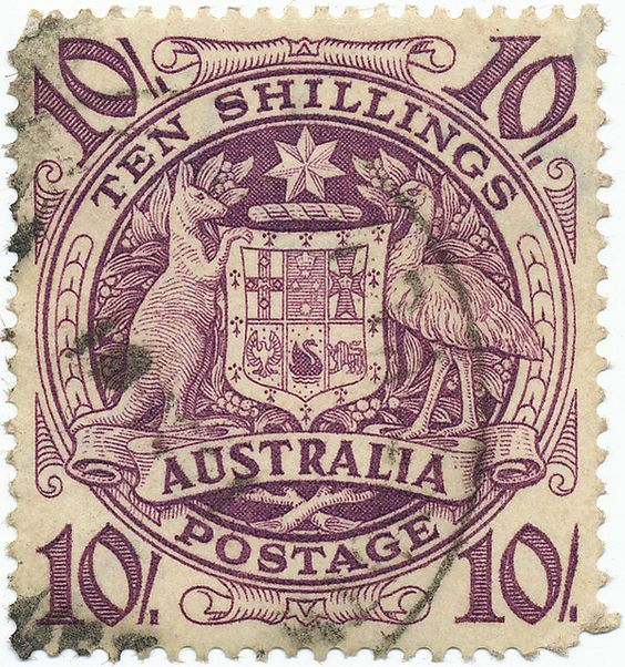 """Australia postage stamp""  I always seem to really like these kinds of stamp, the mono-coloured ink print kind of thing. I don't know why I find it so pleasing. But I do."
