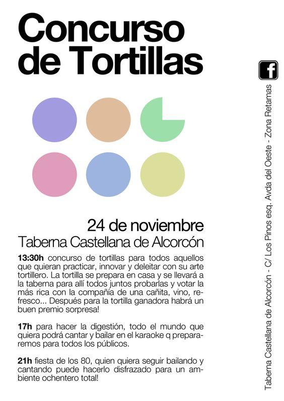 Concurso de Tortillas en La Taberna Castellana de lcorcón