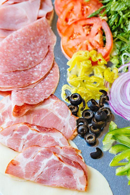Classic Italian Sub Sandwich with an Herbaceous Red Wine  Mein Blog: Alles rund um die Themen Genuss & Geschmack  Kochen Backen Braten Vorspeisen Hauptgerichte und Desserts # Hashtag