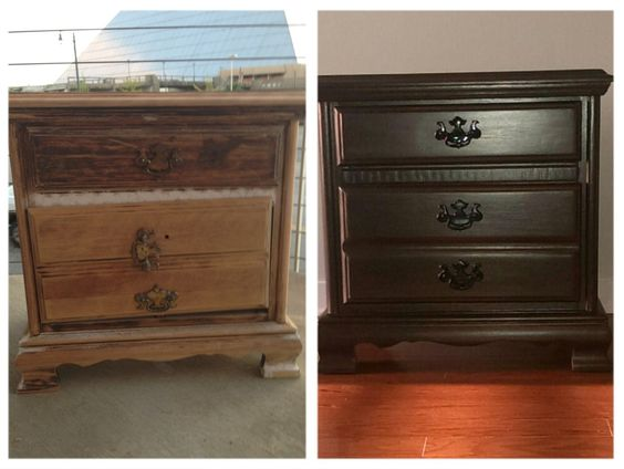 My Latest Creation Bedside Table Transformation With