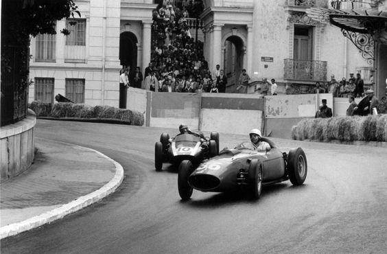 Phill Hill (Nº.36) (USA) (Scuderia Ferrari), Ferrari Dino 246 - Ferrari V6 (finished 3rd)Bruce McLaren (Nº.10) (NZ) (Cooper Car Company), Cooper T53 - Climax Straight-4 (finished 2nd)1960 Monaco Grand Prix