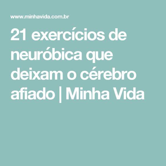 21 exercícios de neuróbica que deixam o cérebro afiado   Minha Vida