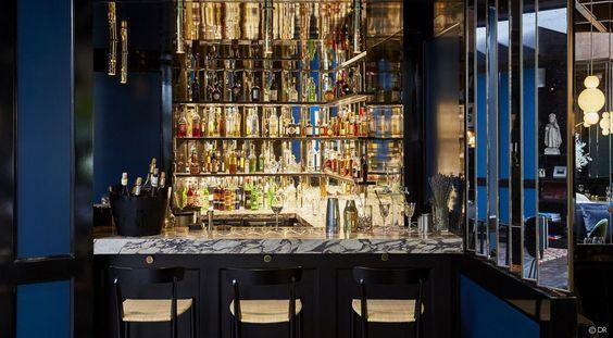 Le bar de l'hôtel Le Roch