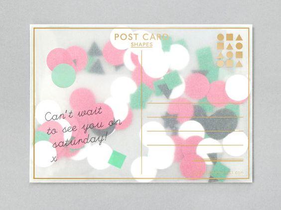 confetti-filled postcard