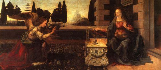 Leonardo da Vinci - Anunciação