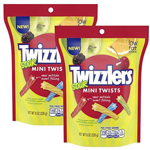 two bags of twizzlers sour mini twists 8 oz twizzler in 2020 mini twists fruity snacks twizzlers pinterest