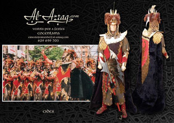 """Traje medieval especial fiestas moros y cristianos """"Cides"""""""