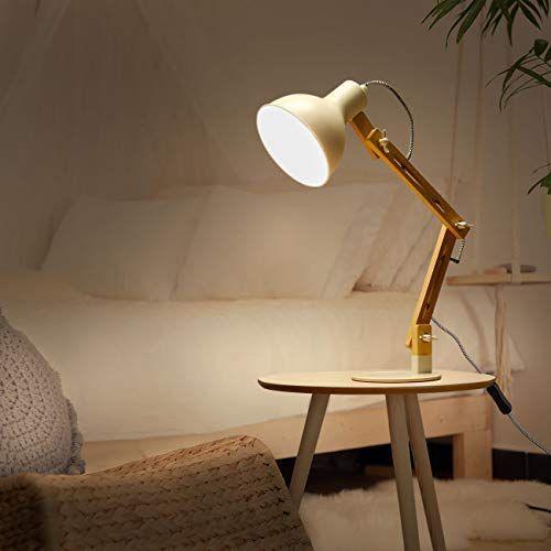 Tomons Swing Arm Led Desk Lamp Wood Designer Table Lamp Reading Lights For Living Room Bedroom Study Office Bedside N Desk Lamp Lamp Bedside Night Stands