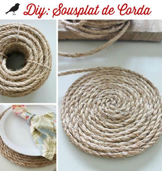 sousplat de corda, mesa posta, tablescape inspiration, corda, sousplat, decoração criativa, ideias criativas: