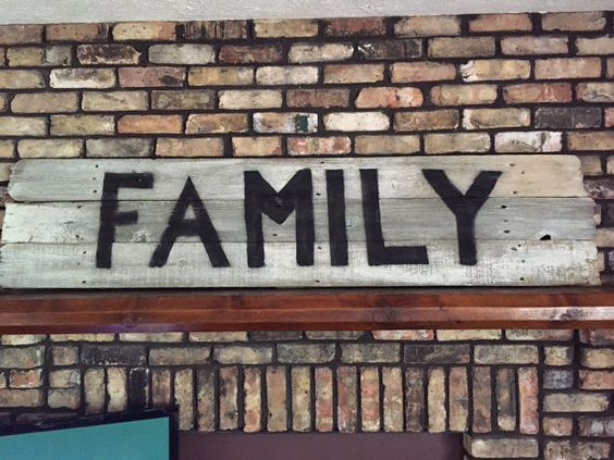 Hey, I found this really awesome Etsy listing at https://www.etsy.com/listing/232937293/large-hand-painted-barn-wood-sign-family