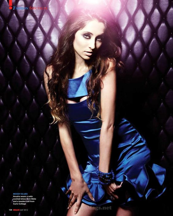 Anusha Dandekar's Hello Magazine India July 2012 Pictures.   Bollywood Cleavage