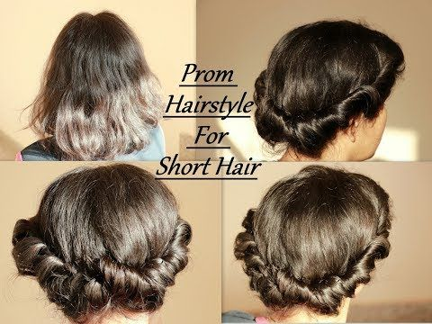 Prom Hairstyle In Short Hair Hairstyle Like A Pro In 1 Minute Youtube Short Wedding Hair Prom Hairstyles For Short Hair Prom Hair