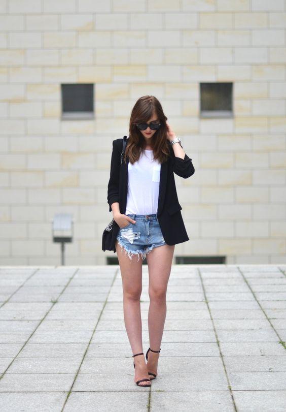Shorts + veste noire