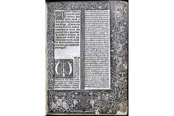 Incunables valencianos: El Tirant lo Blanch del siglo XV