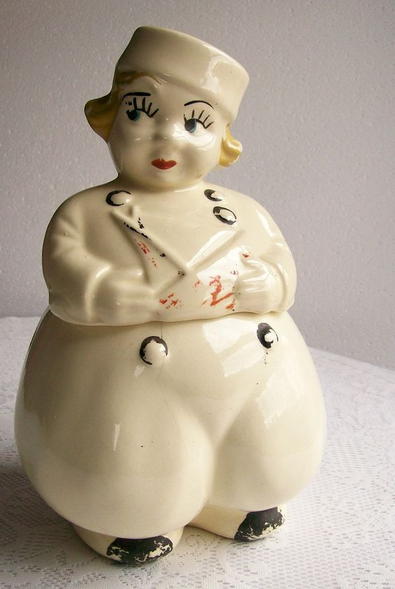 Vintage Antique Cookie Jar Dutch Boy Circa 1940s