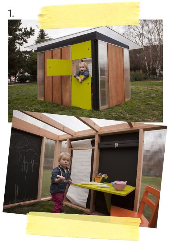 Modern Outdoors Playhouse Outdoorsy Pinterest
