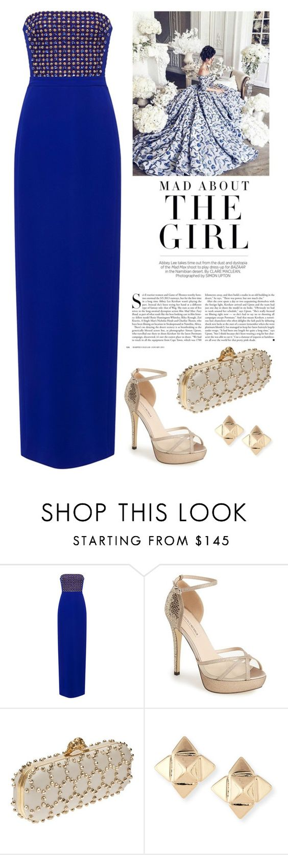 """Stud"" by elyherrera ❤ liked on Polyvore featuring Kershaw, David Koma, Menbur, Alexander McQueen and Valentino"