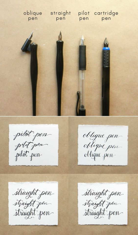 Calligraphy Pen Comparisons Calligraphy Pens