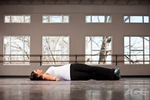 Supine IT Band Stretch