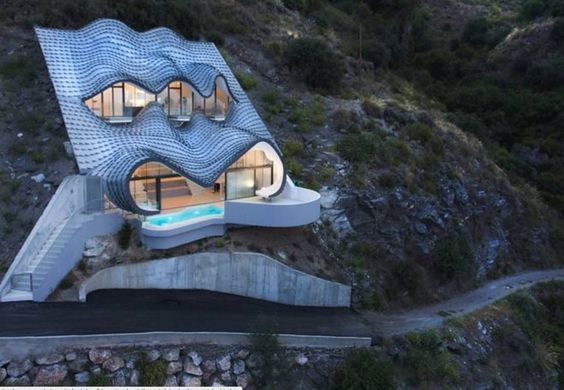 Spanish House Is Dug Into A Hillside Needs No Heat Or Cooling