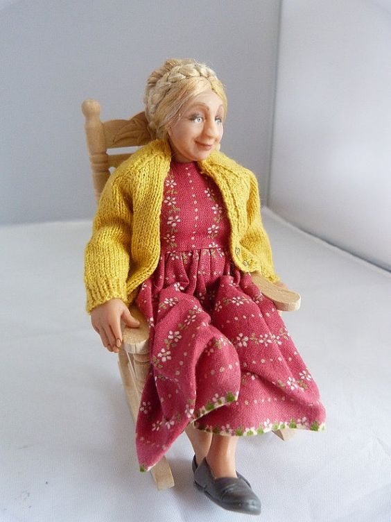 Dollhouse Miniature Farmer's wife by JoMed on Etsy