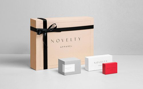 Novelty Apparel brand packaging | Anagrama