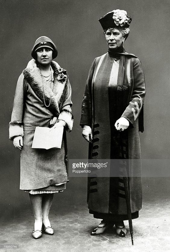 April 1928, HRH,The Duchess of York pictured with HM,Queen Mary, The Duchess of…