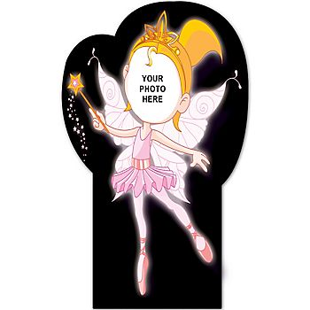 Ballerina Fairy Cardboard Photo Cutout