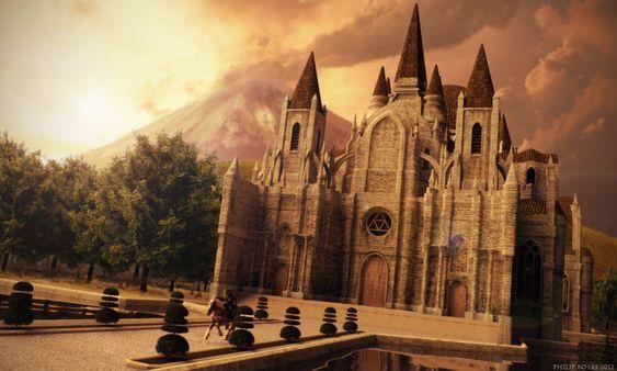 The Temple of Time: Sunset Ride by ~JanjyGiggins on deviantART