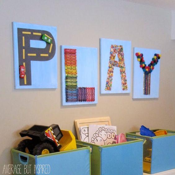 DIY Play Canvas Wall Decor for Kid's Room or Playroom